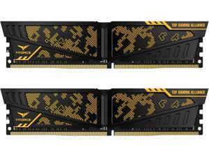 Team T-FORCE VULCAN TUF Gaming Alliance 16GB (2 x 8GB) 288-Pin DDR4 SDRAM DDR4 3200 (PC4 25600) Intel XMP 2.0 Desktop Memory Model TLTYD416G3200HC16CDC01