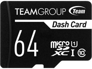 Team 64GB Dash Card  microSDXC UHS-I/U1 Class 10 Memory Card with Adapter, Speed Up to 80MB/s (TDUSDX64GUHS03)