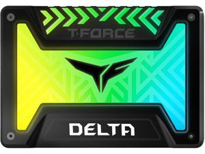 """Team Group T-FORCE DELTA RGB SSD 2.5"""" 500GB SATA III Internal RGB Solid State Drive (For MB with 5V ADD Header)"""
