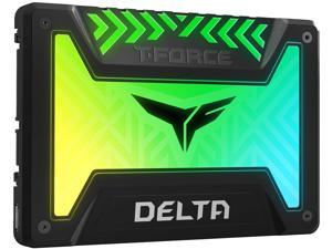 "Team Group T-FORCE DELTA RGB SSD 2.5"" 1TB SATA III Internal RGB Solid State Drive (For MB with 5V ADD Header)"