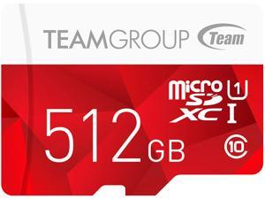 Team Group 512GB Color microSDXC UHS-I/U1 Class 10 Memory Card with Adapter, Speed Up to 80MB/s (TCUSDX512GUHS54)