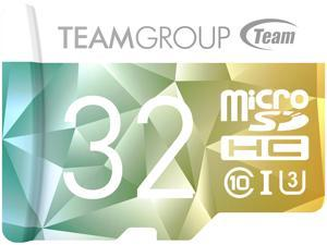 Team 32GB Color II microSDHC UHS-I/U3 Class 10 Memory Card with Adapter, Speed Up to 90MB/s (TCIIUSDH32GU350)