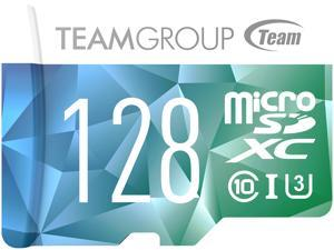 Team 128GB Color II microSDXC UHS-I/U3 Class 10 Memory Card with Adapter, Speed Up to 90MB/s (TCIIUSXH128GU352)