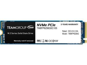 Team Group MP33 M.2 2280 256GB PCIe 3.0 x4 with NVMe 1.3 3D NAND Internal Solid State Drive (SSD) TM8FP6256G0C101