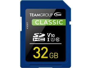 Team Group 32GB Classic SD Card U1 V10 C10 Card Read/Write Speed Up to 80/15MB/s (TSDHC32GIV1001)