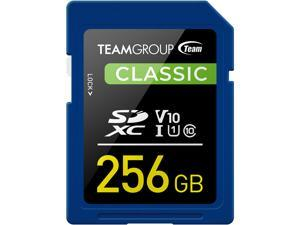 Team Group 256GB Classic SD Card U1 V10 C10 Card Read/Write Speed Up to 80/15MB/s (TSDXC256GIV1001)
