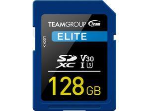 Team Group 128GB Elite SD Card UHS-I U3 V30 Read/Write Speed Up to 90/45MB/s (TESDXC128GIV3001)
