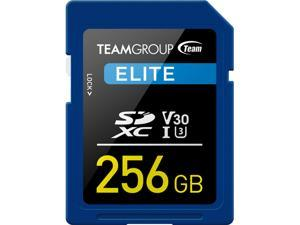 Team Group 256GB Elite SD Card UHS-I U3 V30 Read/Write Speed Up to 90/45MB/s (TESDXC256GIV3001)
