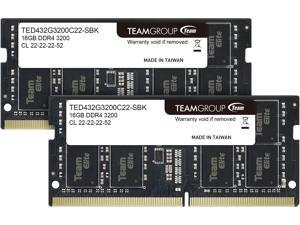 Team Elite 32GB (2 x 16GB) 260-Pin DDR4 SO-DIMM DDR4 3200 (PC4 25600) Laptop Memory Model TED432G3200C22DC-S01