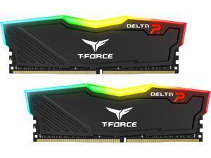 Team T-Force Delta RGB 64GB (2 x 32GB) 288-Pin DDR4 SDRAM DDR4 3000 (PC4 24000) Intel XMP 2.0 Desktop Memory Model TF3D464G3000HC16CDC01