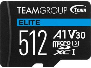 Team Group 512GB Micro SDXC ELITE A1 Card Speed Up to 90MB/s (TEAUSDX512GIV30A103)