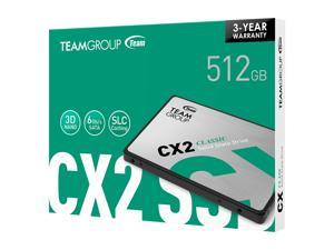Deals on Team Group CX2 2.5-in 512GB SATA III 3D NAND Internal SSD