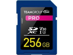 Team Group 256GB Pro SD Card UHS-I U3 V30 Read/Write Speed Up to 100/90MB/s (TPSDXC256GIV30P01)