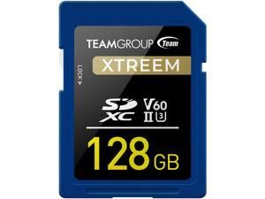 Team Group 128GB Xtreem SD Card UHS-II / U3 / V60 Read/Write Speed Up to 250/120MB/s (TXSDXC128GIIV6001)