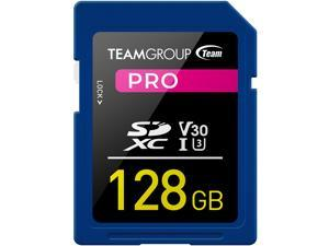 Team Group 128GB Pro SD Card UHS-I U3 V30 Read/Write Speed Up to 100/90MB/s (TPSDXC128GIV30P01)