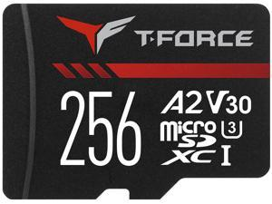 TEAM GROUP T-FORCE GAMING A2 CARD microSDXC 256GB UHS-I/U3/V30/A2  RETAIL w/o Adapter, Read/Write Speed Up to 100/90MB/s (TTUSDX256GIV30A202)