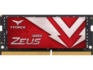 Team T-FORCE ZEUS 64GB (2 x 32GB) 260-Pin DDR4 SO-DIMM DDR4 3200 (PC4 25600) Laptop Memory Model TTZD464G3200HC22DC-S01