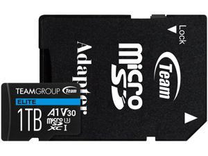 Team Group 1TB Micro SDXC ELITE A1 Card Speed Up to 90MB/s (TEAUSDX1TIV30A103)