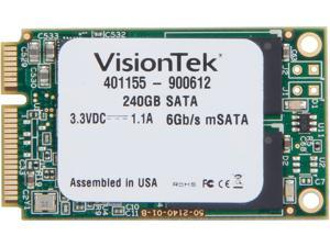 VisionTek mSATA 240GB SATA III Internal Solid State Drive (SSD) 900612