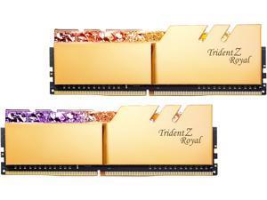 G.SKILL Trident Z Royal Series 64GB (2 x 32GB) 288-Pin DDR4 SDRAM DDR4 2666 (PC4 21300) Intel XMP 2.0 Desktop Memory Model F4-2666C19D-64GTRG