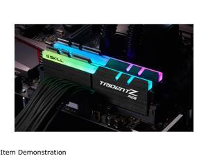 G.SKILL TridentZ RGB Series 64GB (2 x 32GB) 288-Pin DDR4 SDRAM DDR4 2666 (PC4 21300) Desktop Memory Model F4-2666C19D-64GTZR