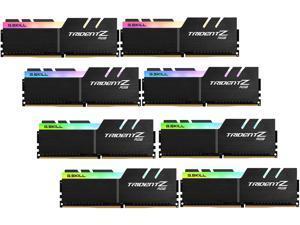 G.SKILL TridentZ RGB Series 256GB (8 x 32GB) 288-Pin DDR4 SDRAM DDR4 2666 (PC4 21300) Desktop Memory Model F4-2666C19Q2-256GTZR