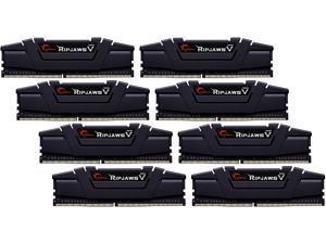 G.SKILL Ripjaws V Series 256GB (8 x 32GB) 288-Pin DDR4 SDRAM DDR4 2666 (PC4 21300) Desktop Memory Model F4-2666C19Q2-256GVK