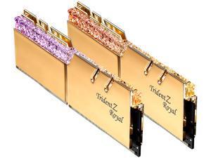 G.SKILL Trident Z Royal Series 32GB (2 x 16GB) 288-Pin DDR4 SDRAM DDR4 4600 (PC4 36800) Intel XMP 2.0 Desktop Memory Model F4-4600C19D-32GTRG