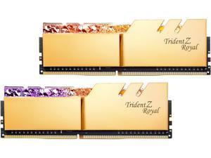 G.SKILL Trident Z Royal Series 32GB (2 x 16GB) 288-Pin DDR4 SDRAM DDR4 4600 (PC4 36800) Intel XMP 2.0 Desktop Memory Model F4-4600C20D-32GTRG