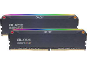 OLOy Blade RGB 64GB (2 x 32GB) 288-Pin DDR4 SDRAM DDR4 4000 (PC4 32000) Desktop Memory Model ND4U3240180DRKDE