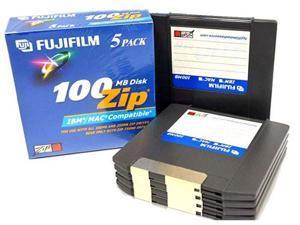 FUJIFILM 25275004 100MB 5 Packs 100 MB Zip Disk - 5 Packs