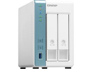 QNAP 2-Bay Personal Cloud NAS for Backup and Data Sharing 4-core 1.7GHz 1GB RAM w/ Lockable Drive Tray TS-231K-US