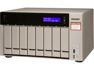 Qnap 8-bay NAS/iSCSI IP-SAN, AMD R series Quad-core 2.1GHz, 8GB RAM, 10G-ready (TVS-873e-8G-US)