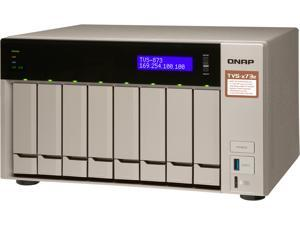 Qnap 8-bay NAS/iSCSI IP-SAN, AMD R series Quad-core 2.1GHz, 4GB RAM, 10G-ready (TVS-873e-4G-US)