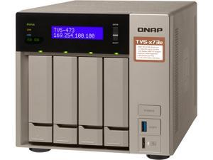 Qnap 4-bay NAS/iSCSI IP-SAN, AMD R series Quad-core 2.1GHz, 8GB RAM, 10G-ready (TVS-473e-8G-US)