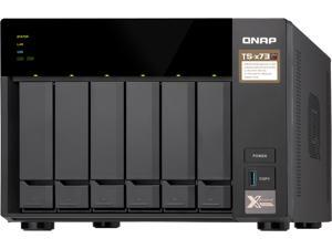 QNAP TS-673-4G-US 6-Bay NAS/iSCSI IP-SAN, AMD R Series Quad-core 2.1GHz, 4GB RAM, 10G-Ready