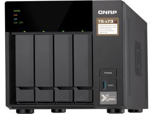 QNAP TS-473-8G-US 4-Bay NAS/iSCSI IP-SAN, AMD R Series Quad-core 2.1GHz, 8GB RAM, 10G-Ready