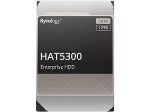 "Synology HAT5300-12T Enterprise 12TB HDD SATA III 6Gb/s 512e 7200 RPM 256MB Cache 3.5"" Internal Hard Drive"