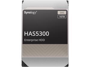 "Synology HAS5300-16T Enterprise 16TB HDD SAS 12Gb/s 512e 7200 RPM 512MB Cache 3.5"" Internal Hard Drive"