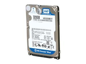 "Western Digital Scorpio Blue WD3200BEVT 320GB 5400 RPM 8MB Cache SATA 3.0Gb/s 2.5"" Internal Notebook Hard Drive Bare Drive"