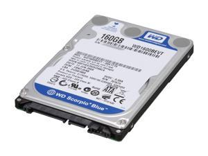 "Western Digital Scorpio Blue WD1600BEVT 160GB 5400 RPM 8MB Cache SATA 3.0Gb/s 2.5"" Internal Notebook Hard Drive Bare ..."