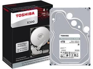 "TOSHIBA X300 4TB Desktop Hard Drive 7200 RPM 128MB Cache SATA 6.0Gb/s 3.5"" Internal Hard Drive Retail Packaging HDWE140XZSTA"