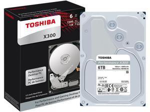 Toshiba X300 6TB Performance & Gaming Internal Hard Drive 7200 RPM SATA 6Gb/s 128MB Cache 3.5 inch - HDWE160XZSTA (RETAIL PACKAGE)