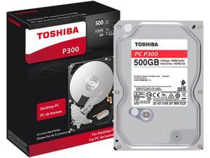 Toshiba P300 500GB Desktop PC Internal Hard Drive 7200 RPM SATA 6Gb/s 64MB Cache 3.5 inch - HDWD105XZSTA (RETAIL PACKAGE)