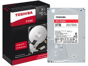 Toshiba P300 3TB Desktop PC Internal Hard Drive 7200 RPM SATA 6Gb/s 64 MB Cache 3.5 inch - HDWD130XZSTA (RETAIL PACKAGE)