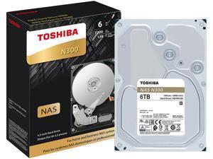 Toshiba N300 6TB NAS Internal Hard Drive 7200 RPM SATA 6Gb/s 128MB Cache 3.5inch - HDWN160XZSTA (RETAIL PACKAGE)