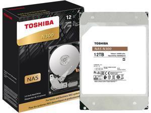 "TOSHIBA N300 HDWG21CXZSTA 12TB 7200 RPM 256MB Cache SATA 6.0Gb/s 3.5"" Internal Hard Drive Retail"