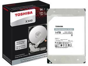 "TOSHIBA X300 HDWR21EXZSTA 14TB 7200 RPM 256MB Cache SATA 6.0Gb/s 3.5"" Internal Hard Drive Retail"