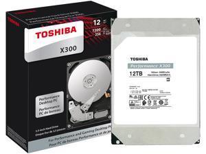 "TOSHIBA X300 HDWR21CXZSTA 12TB 7200 RPM 256MB Cache SATA 6.0Gb/s 3.5"" Internal Hard Drive Retail"