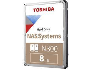 "TOSHIBA N300 HDWG180XZSTA 8TB 7200 RPM 256MB Cache SATA 6.0Gb/s 3.5"" High-Reliability Hard Drive"